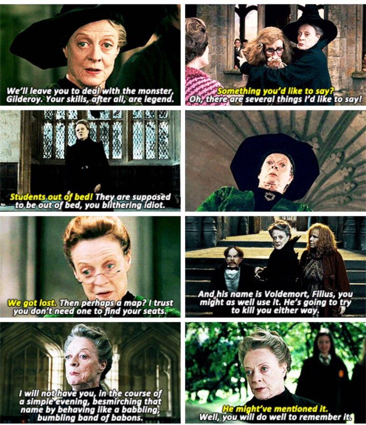 Sass is a common trait with the teachers at Hogwarts.