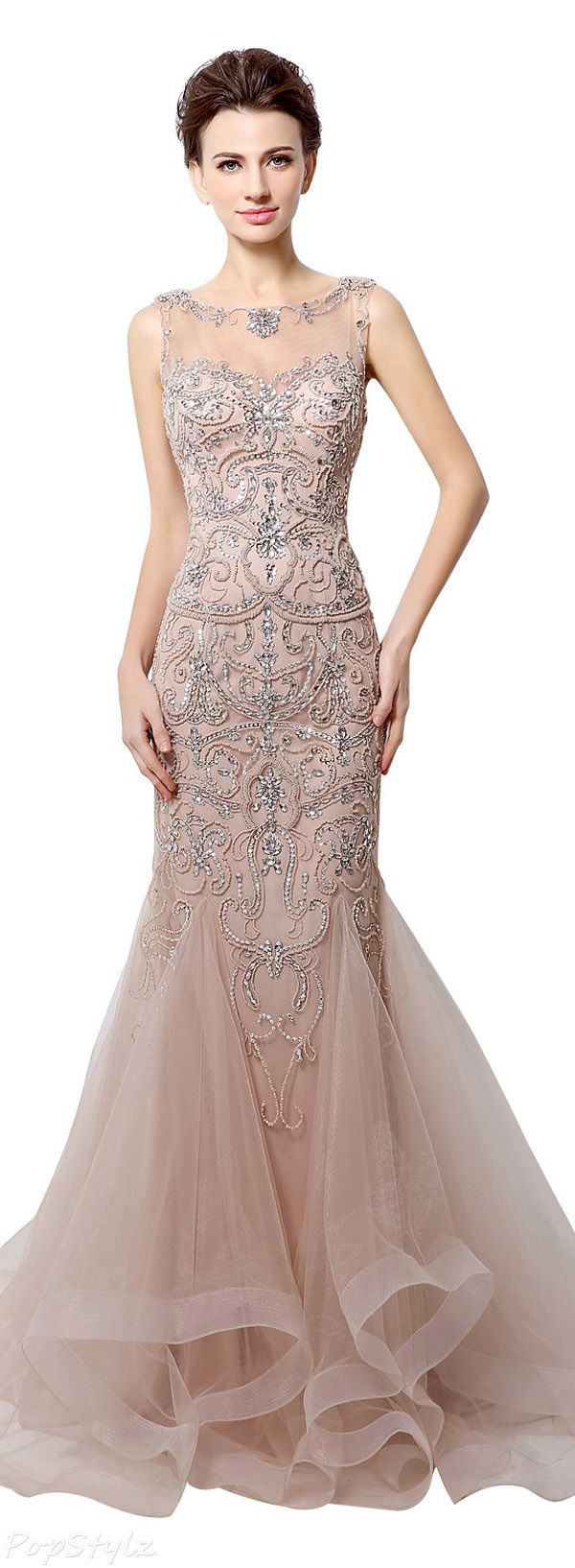 17  ideas about Mermaid Evening Gown on Pinterest  Long dresses ...