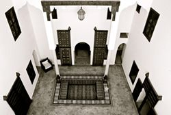 Riad courtyard | House Design | Pinterest
