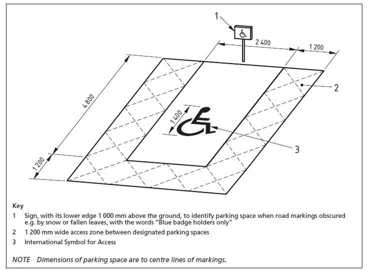 handicap parking spaces dimensions   Van Accessible Parking Space Dimensions. 7 best Handicap Parking Spaces images on Pinterest