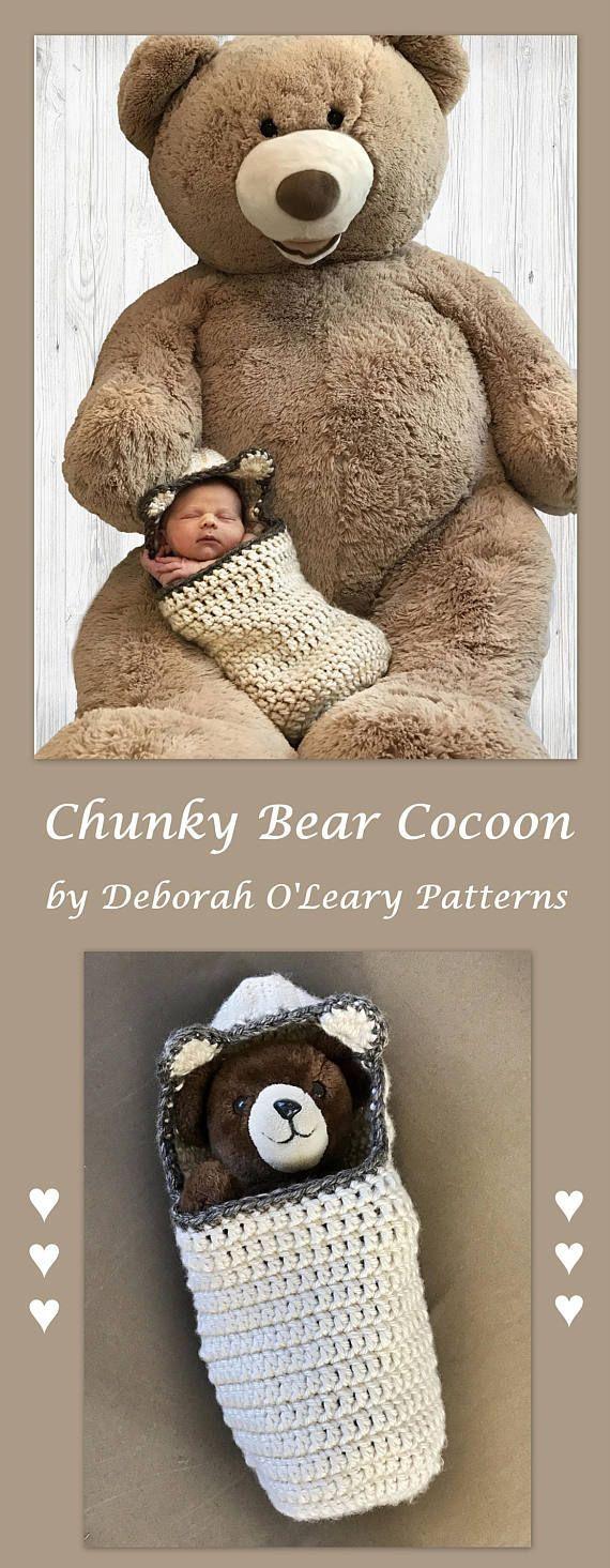 Crochet Chunky Cocoon Pattern by Deborah O'Leary Patterns  #crochet #baby #pattern #easy #blanket #deboraholearypatterns