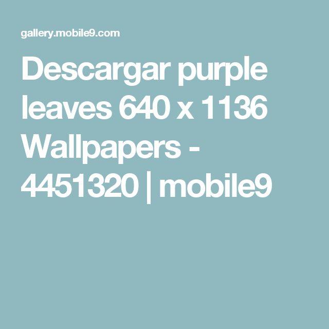 Descargar purple leaves 640 x 1136 Wallpapers - 4451320   mobile9