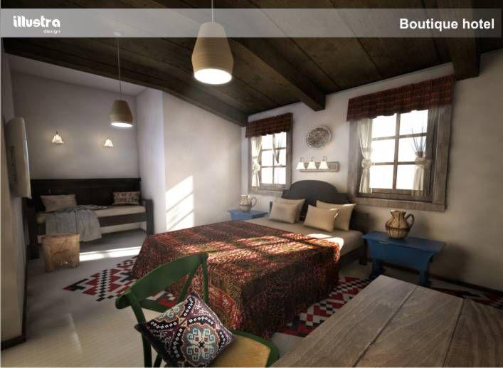 Rander 3d design hotel room