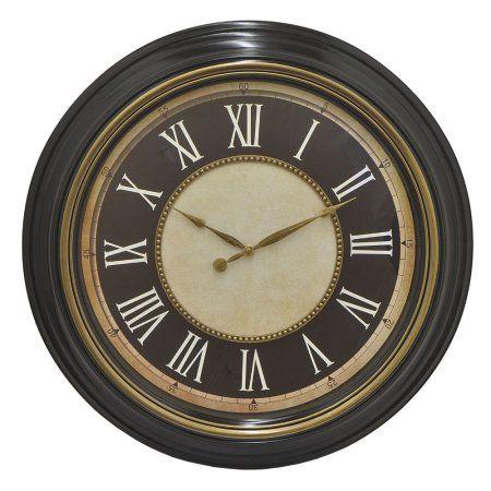 Benzara 99073 Antique Wall Clock, Black