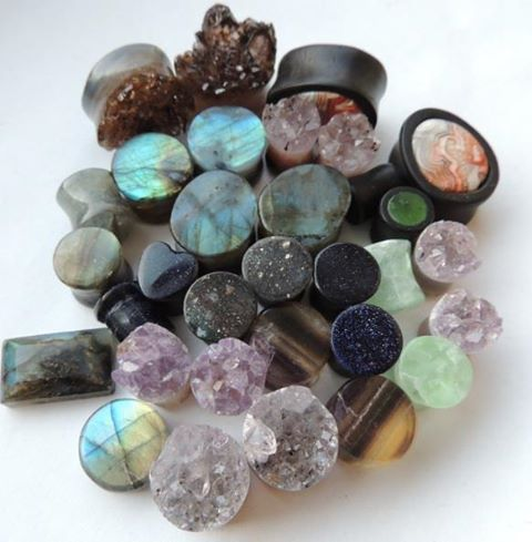 I really love geode plugs