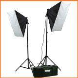 Amazon Image. ePhoto Video Studio Photography Lighting kit softbox light kit video lighting kit CASE H9004S