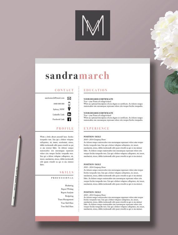 14 best cv images on Pinterest Cover letters, Creative cv and - professional word templates