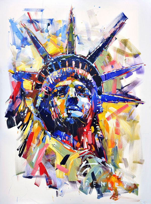 Steve Penley - Liberty. I love the freedom and use of color in his portraits
