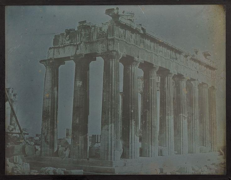 Façade and North Colonnade of the Parthenon on the Acropolis, Athens, 1842, Joseph-Philibert Girault de Prangey, daguerreotype. The J. Paul Getty Museum