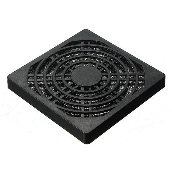 Fan 80mm Black Dust Proof Dust Filter Computer. Dust Proof Dust Filter for Computer Fan 80mm Black 	 	Features: 	Colour: Black 	Dimension: (8 x 8 x 1)cm / (3.15 x 3.15 x 0.39)' (L x W x H) 	Size: Fits over a 80mm fan case 	 	Protects your internal components from dust and debris 	Simple and elegant appearance 	Durable and practical 	 	Package: 	1 x 80mm Case Fan Filter