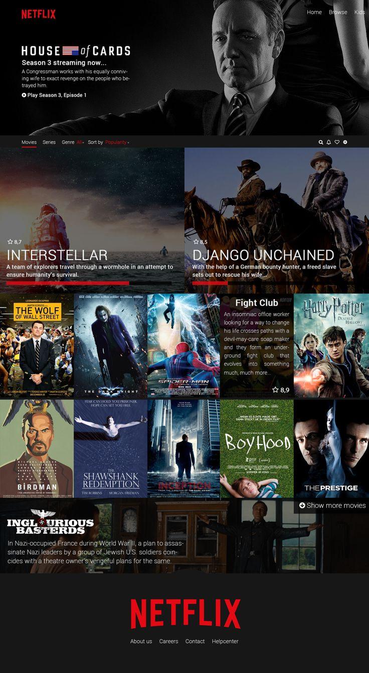 Netflix redesign concept by Hamid Abshari