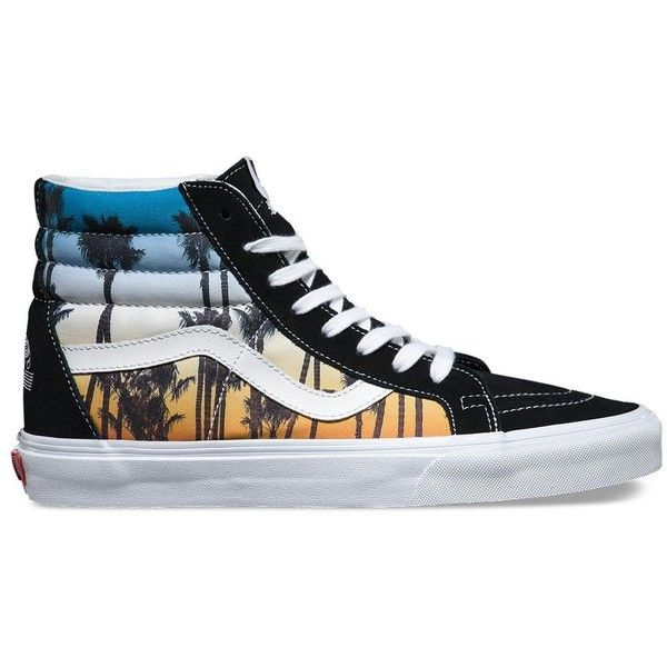 Vans 2016 US Open SK8-Hi Reissue ($70) ❤ liked on Polyvore featuring men's fashion, men's shoes, men's sneakers, multi, mens cap toe shoes, mens high top shoes, mens high top sneakers, vans mens shoes and vintage mens sneakers