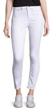 Rag & Bone High-Rise Ankle Slit Capri Jeans