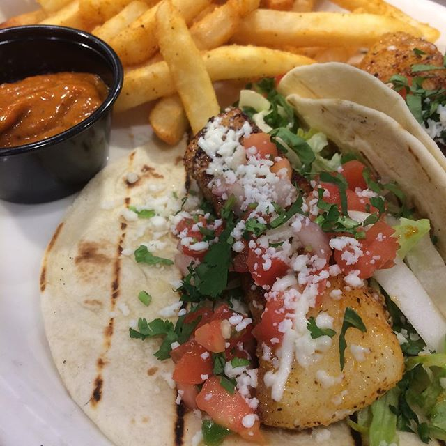 It's Fish & Chips For Taco Tuesday Today! Blackened Cod & Crispy Seasoned Fries With Poblano Ketchup. #tacotuesday #tacos #margarita #tequila #seafood #nc #fresh - Sat Dec 03 2016 12:53:35 GMT-0500 (EST)