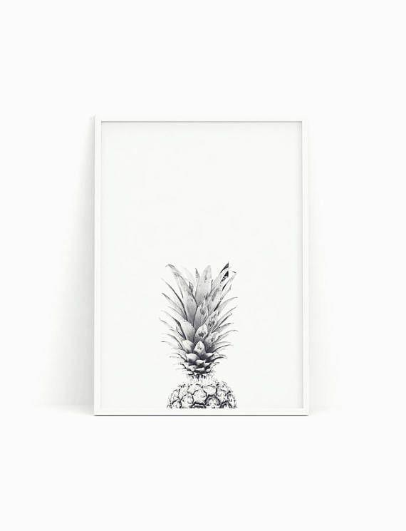 Pineapple print Pineapple poster Pineapple printable wall