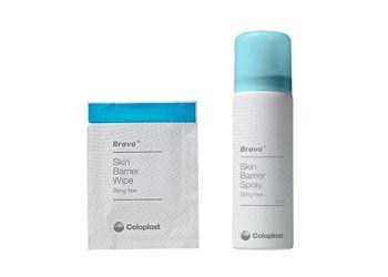 ブラバ 皮膚被膜剤 つっぱり感のない皮膚被膜剤で、排泄物の接触や粘着剤の剥離から皮膚を守ります。  ブラバ 皮膚被膜剤スプレーは、排泄物の漏れや粘着剤に関連した皮膚障害を低減します。また、使用後すぐに面板を貼付することも可能です。 *サンプルはワイプタイプのみお届けできますのでご了承ください。