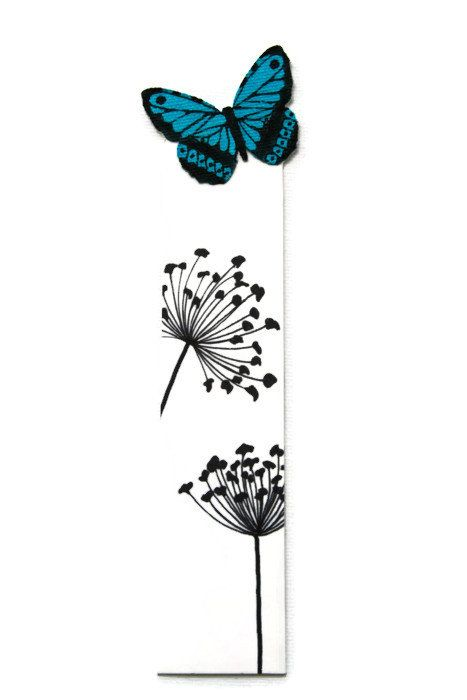 Bookmark Handmade hand painted butterfly