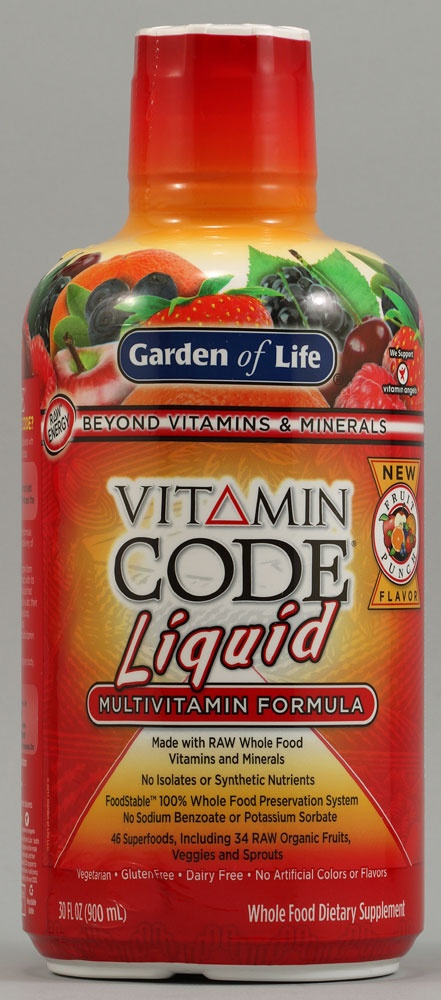 BEST LIQUID VITAMIN OUT THERE. Comes highly recommended by celebrity nutritionist Kimberly Snyder. Garden of Life Vitamin Code Liquid Multivitamin Formula Fruit Punch