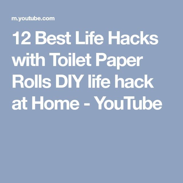 12 Best Life Hacks with Toilet Paper Rolls DIY life hack at Home - YouTube
