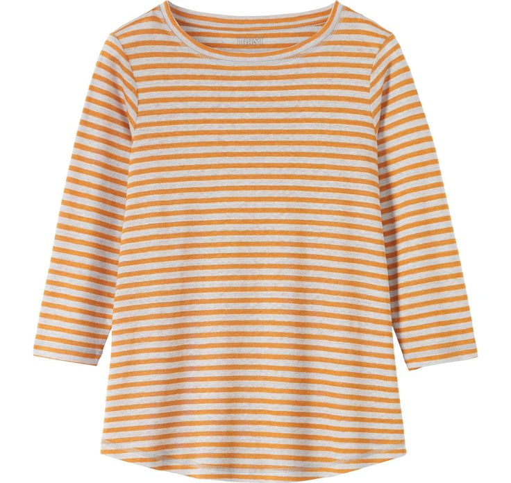Home Linen Stripe Tee in Jersey And Tees