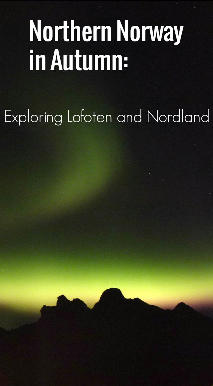 Northern Lights in Lofoten - one of many things to see and experience on an autumn trip to Lofoten and Nordland in Northern Norway