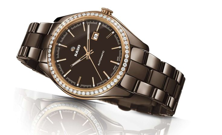 Rado HyperChrome Diamonds Brown Ceramic Automatic