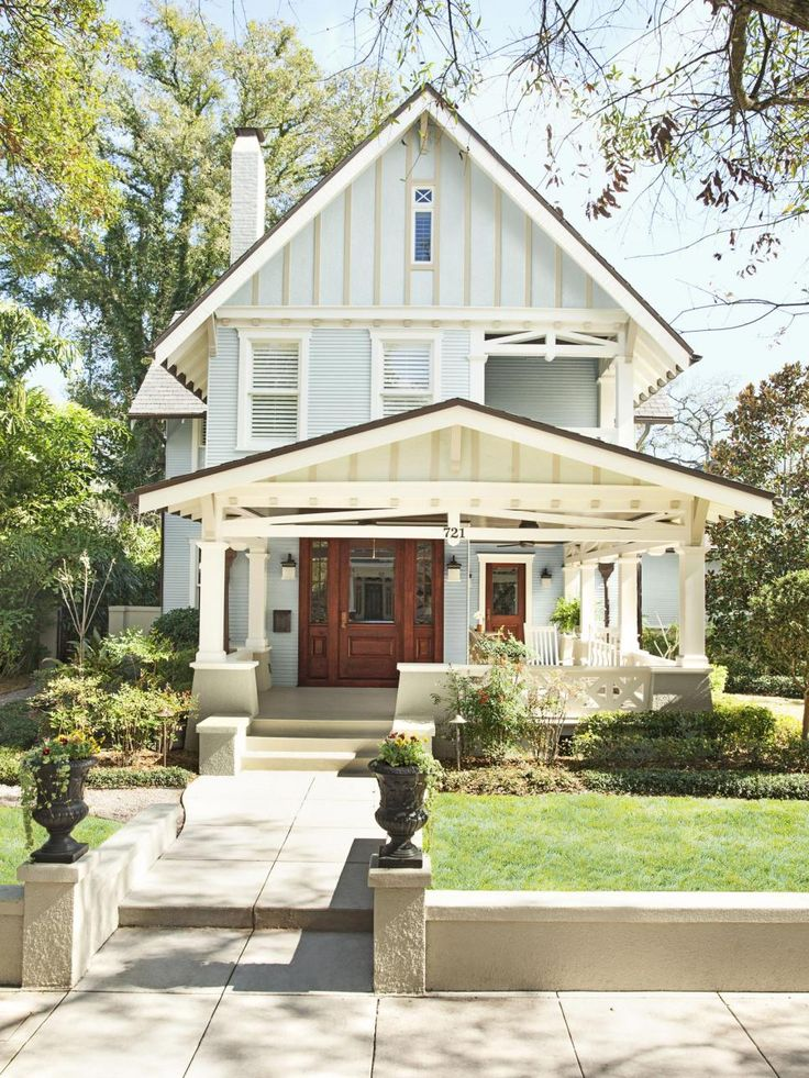 """Meg Russell and Thad Bereday bought their 1912 home in 2003. They say. """"We call the house a 'Craftsman Tudor bungalow.' We've never seen another one like it!"""""""