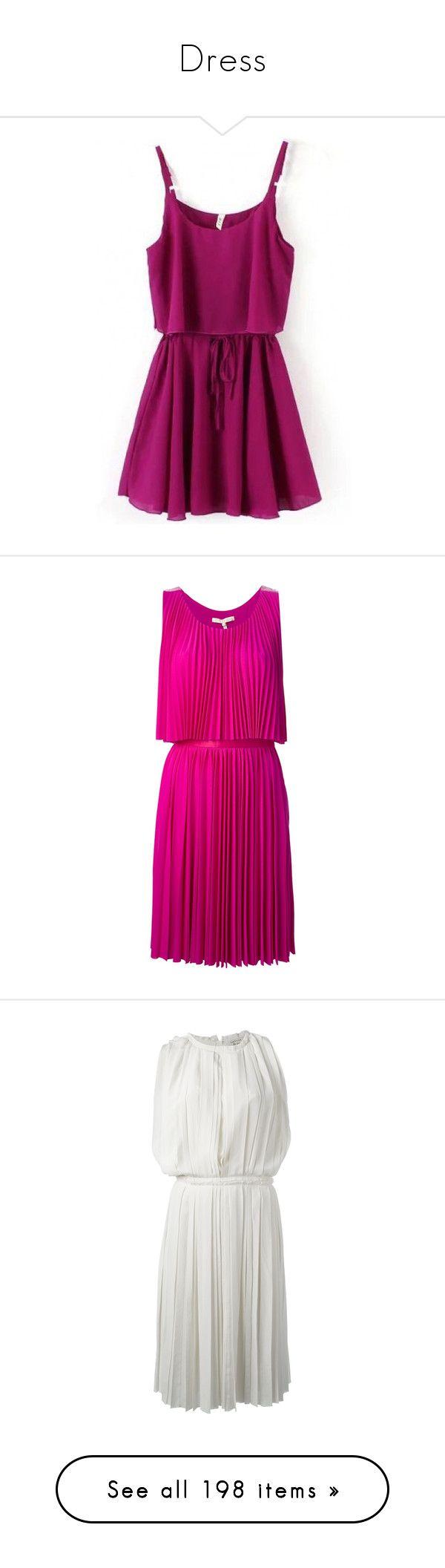 """Dress"" by alejaborrayo on Polyvore featuring dresses, vestidos, short dresses, purple mini dress, purple day dress, strap dress, skater dress, pink, halston heritage dress y sleeveless short dress"