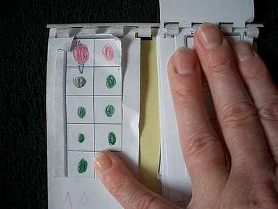 subtrahiert mit Zehnerübergang. Das geht ganz einfach, mit der Rechenmaschine. 13 - 4