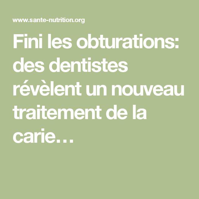 Fini les obturations des dentistes r v lent un nouveau traitement de la cari - Traitement de la merule tarif ...