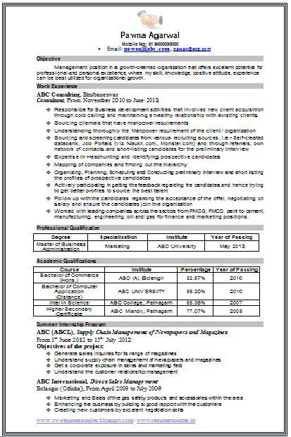 Iti Resume Format Professional Curriculum Vitae Resume Template