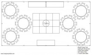 20 x 40 Tent Layout & Seating
