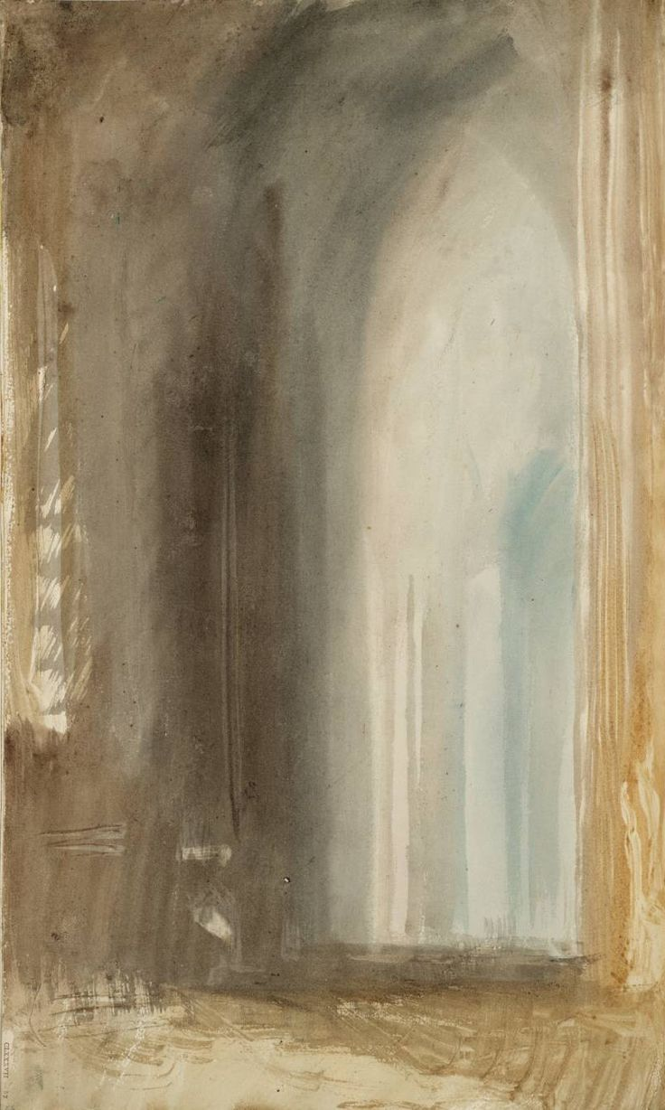 Joseph Mallord William Turner, Interior of an Italian Church, Rome. C. Studies Sketchbook, 1819 ☄