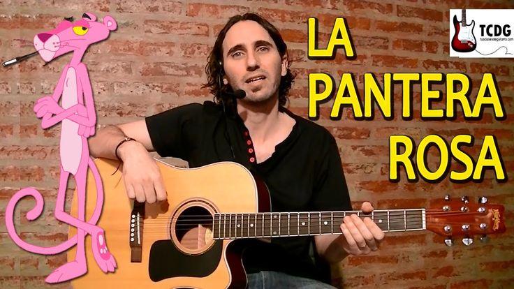 Como Tocar La Pantera Rosa En Guitarra Acústica Súper Fácil para princip...