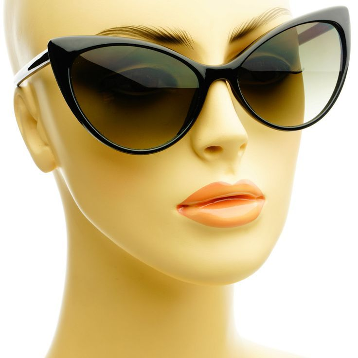 nice Vintage Retro Fashion Tip Pointed Large Womens Cat Eye Sunglasses C75