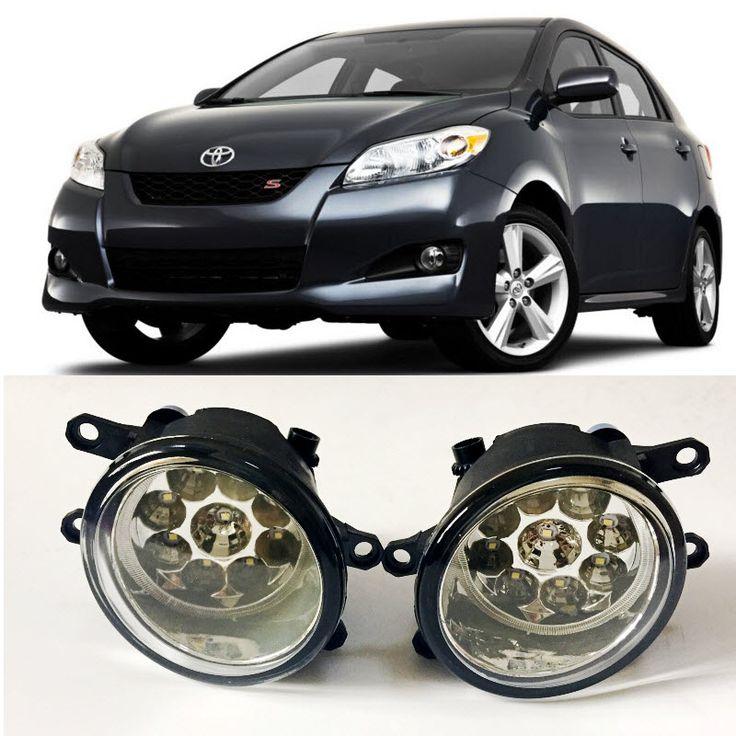 Car-Styling For Toyota Matrix 2009-2014 2016 9-Pieces Leds Fog Lights H11 H8 12V 55W Halogen LED Fog Head Lamp