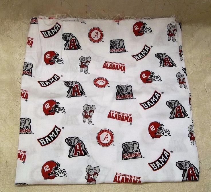 "University Of Alabama Fabric 42"" x 22"" Crimson Tide Bama Big Al Helmet Elephant  #AlabamaCrimsonTide"