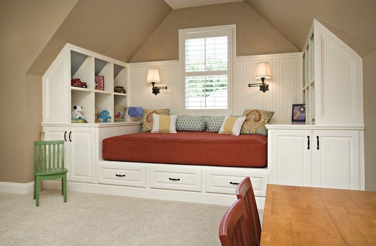 Great ideas if you need have a playroom or kids room and still have a space for an office or guest room.