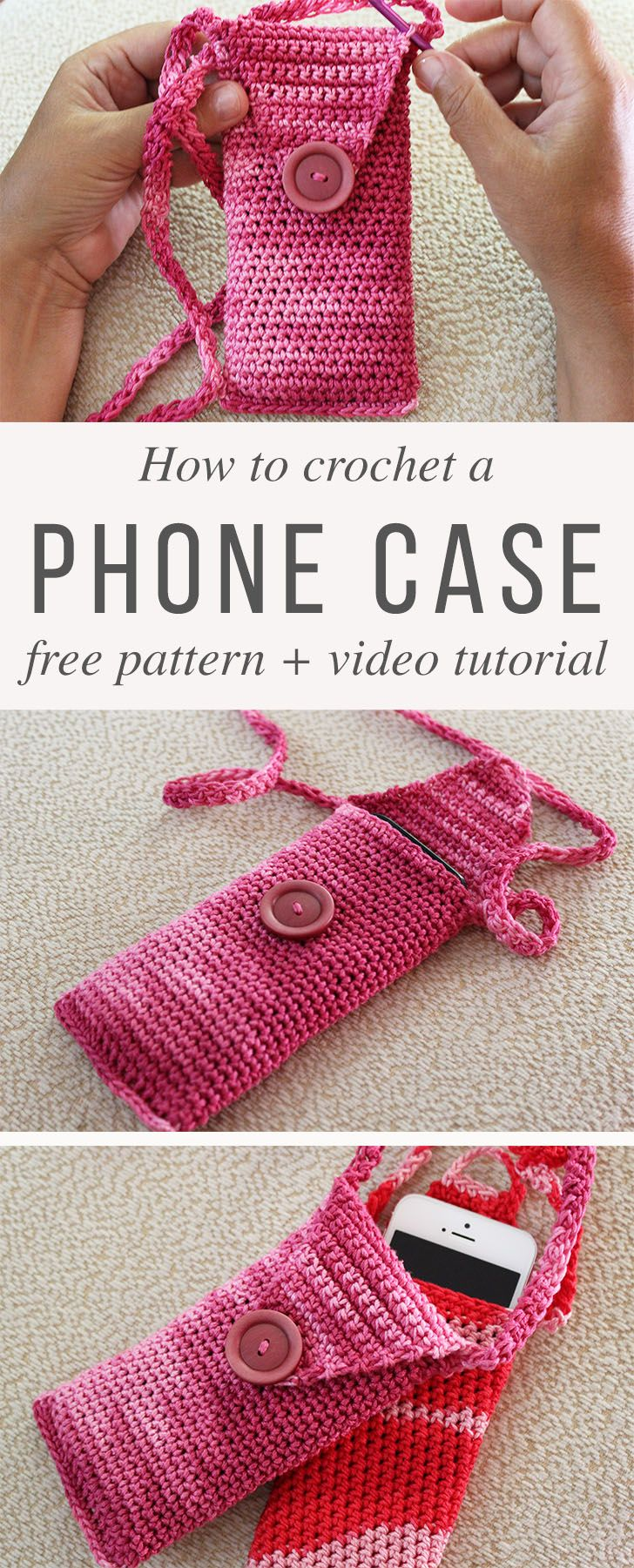 Fancy Phone Case Crochet Free Pattern And Video Tutorial