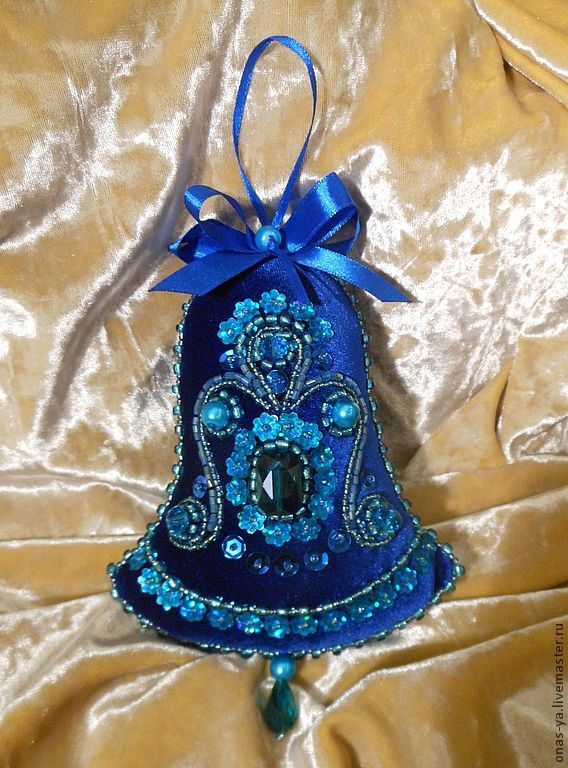 """Купить елочные игрушки """"рождество"""" - тёмно-синий, бархат, рождество, рождественский подарок, рождественское украшение"""