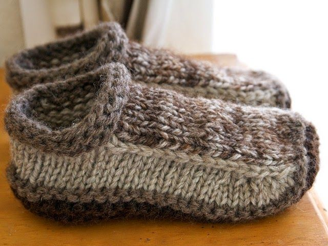 non-felted slippers (free pattern from ravelry)