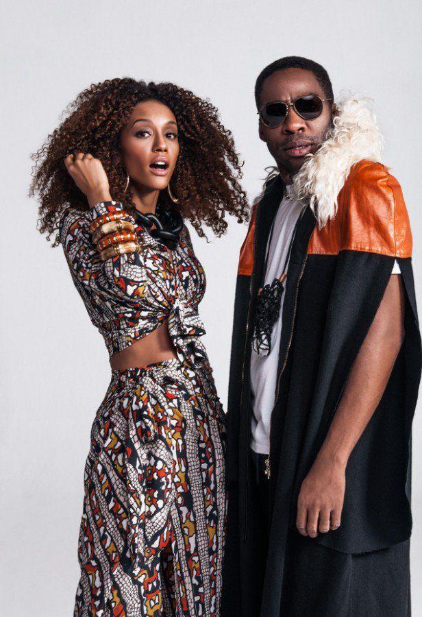 Tais Araújo posa com look africano para série com Lázaro Ramos