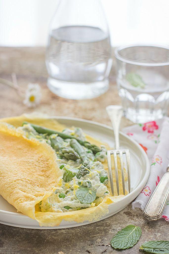 Crespelle di ceci con crema di ricotta e verdure primaverili - Ileana Pavone