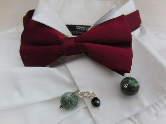 Men's Cufflinks Men's Jewellery Beaded Cufflinks by OswestryJewels