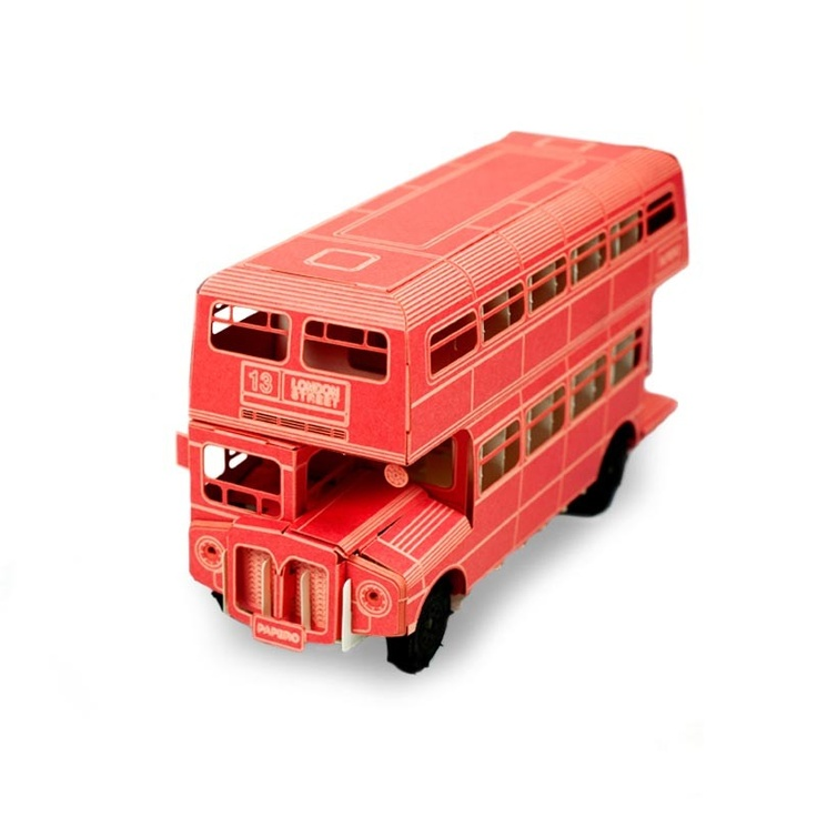 London Double Decker Bus - Recycled Card Stock & Paper
