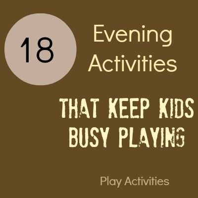 18 Evening Activities that keep kids busy playing while we do something else: Kids Plays, Plays Activities, Kids Stuff, Older Kids, Plays Dough, Business Plays, Kiddo Business, Dinners Ready, Kids Business