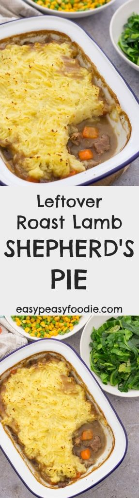 This Leftover Roast Lamb Shepherd's Pie is real old-fashioned, back-to-basics kind of shepherd's pie, using leftover roast lamb, a simple lamb gravy,  buttery mash and very little else. Pure comfort food!  #lamb #leftoverlamb #leftoverroastlamb #roastlamb #leftovers #loveyourleftovers #roastdinner #sundaylunch