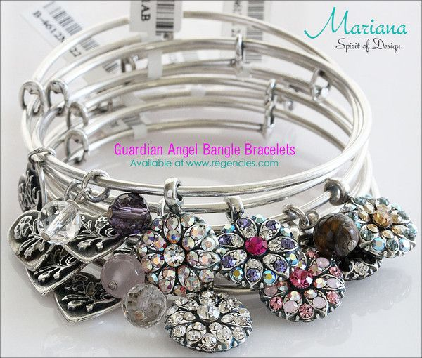 Mariana Guardian Angel Bangle Bracelets. Available at www.regencies.com