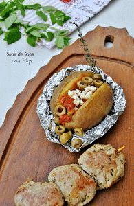 ¡La de rellenos que admiten las patatas rellenas! Te recomendamos que pruebes el que nos recomiendan en esta receta.