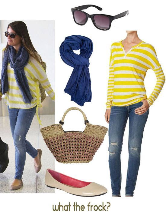 What the Frock? - Affordable Fashion Tips and Trends: Under $100: Lea Michele - cute casual spring/summer style
